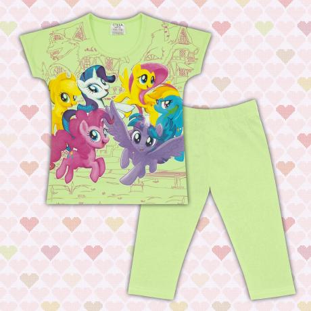 Комплект блузка и клин Малкото Пони в резеда