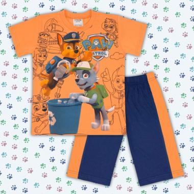 Комплект тениска и бермуди Пес Патрул-в-оранжево