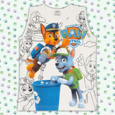 Тениска без ръкав - потник Пес Патрул в екрю