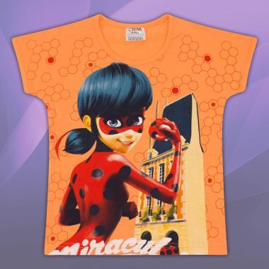 Блуза с къс ръкав Калинка в оранжево