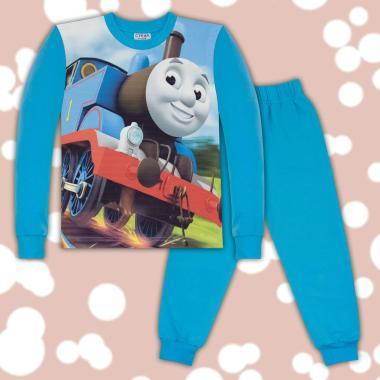 Комплект 2ч.(б/д) влакчето Томас в синьо