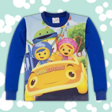 блуза дълъг ръкав с Уми Зуми в синьо