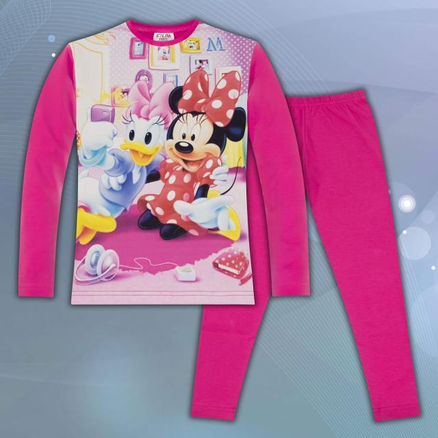 Комплект блуза с клин Сладкото мишле в циклама (дигитален печат)