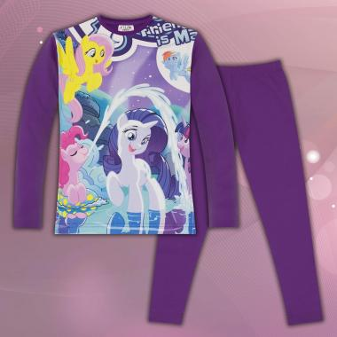комплет блуза с клин Малкото пони в лилаво