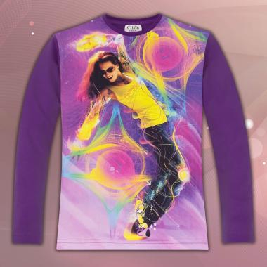 Блуза Танцуващо момиче в лилаво