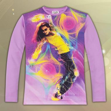 Блуза Танцуващо момиче в тъмно лилаво