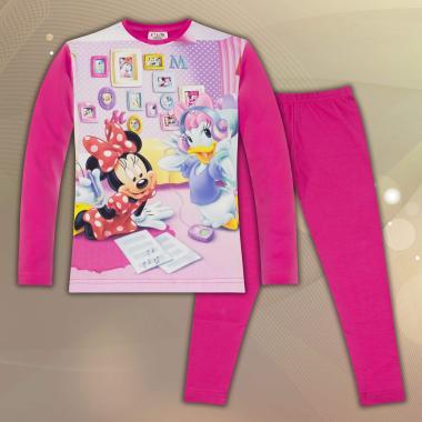 комплект блуза с клин Мини Маус в циклама