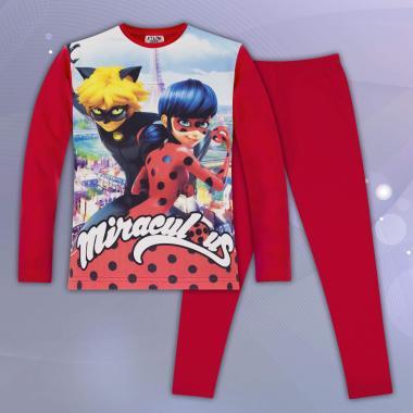 комплект блуза с клин Калинка и черния котарак в червено
