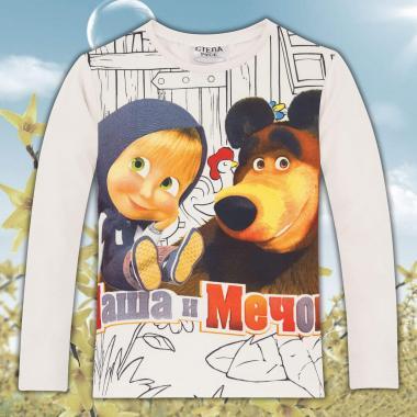 Блуза Маша и мечока екрю