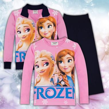 Комплект 3ч.(с/б/д) Леденото кралство в розово и тъм.синьо