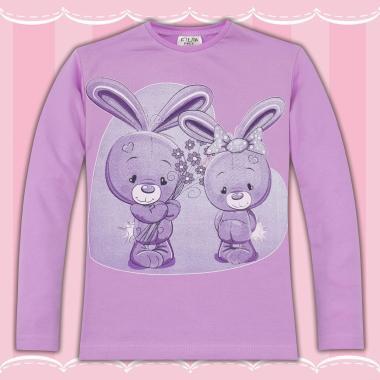 Блуза Сладките зайчета в лилаво