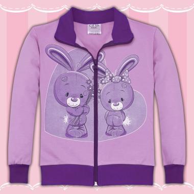 Суичър Сладки зайчета в лилаво