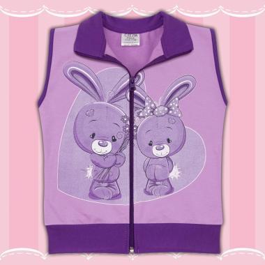Елек сладки зайчета в лилаво