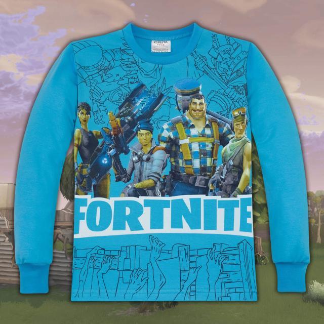 Блуза Фортнайт в наситено синьо