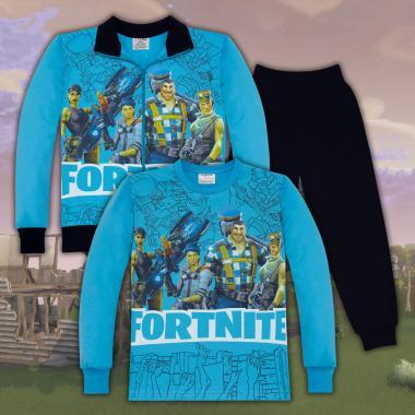 Комплект 3ч.(с/б/д) Fortnite в наситено синьо