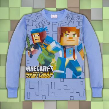 Блуза Майнкрафт  в светло синьо
