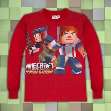 Блуза Майнкрафт в червено