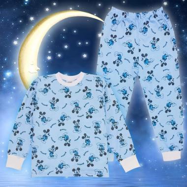 Пижама с Мики Маус в синьо