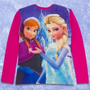Блуза Замръзналото кралство в циклама
