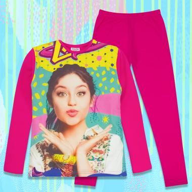 комплет блуза с клин Soy Luna в розово