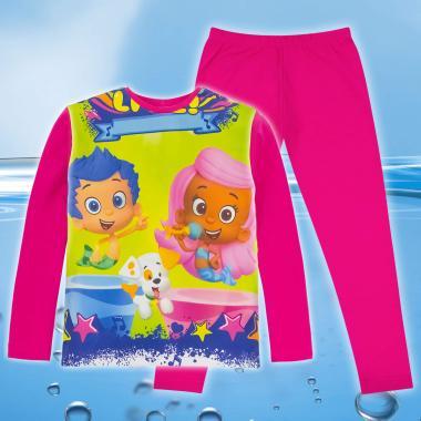 комплет блуза с клин Рибки балони в розово