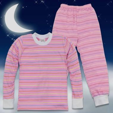 Пижама с розово райе