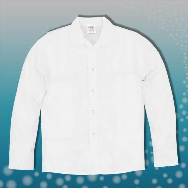 Риза бяла с дълъг ръкав