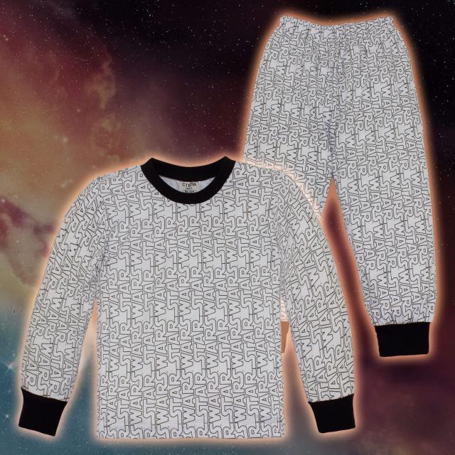 Пижама в бяло star wars