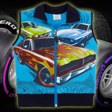 Елек Hot Wheels в наситено синьо