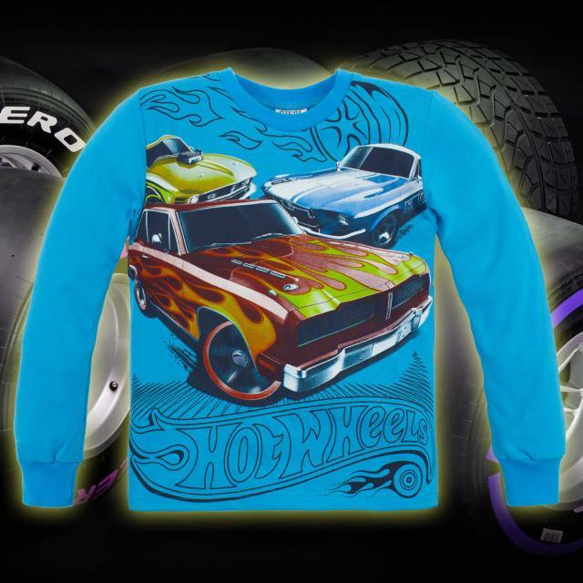 Блуза Hot Wheels в наситено синьо