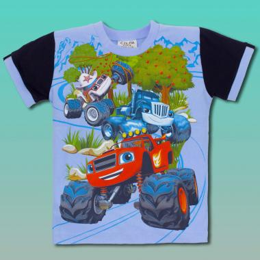 Тениска Пламъчко-в-синьо