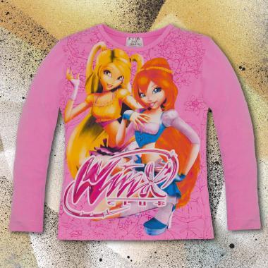 Блуза тънка с дълъг ръкав Winx в розово