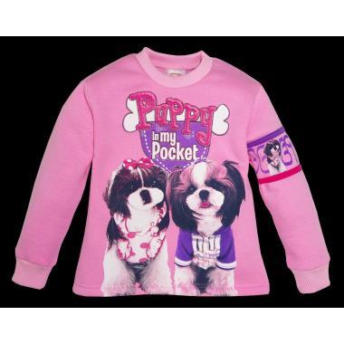 Блуза триконечна вата Pocket Puppy розова