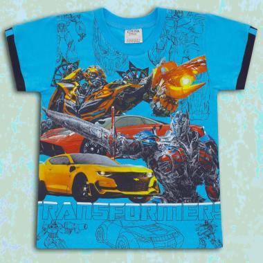 Тениска Трансформърс в наситено синьо