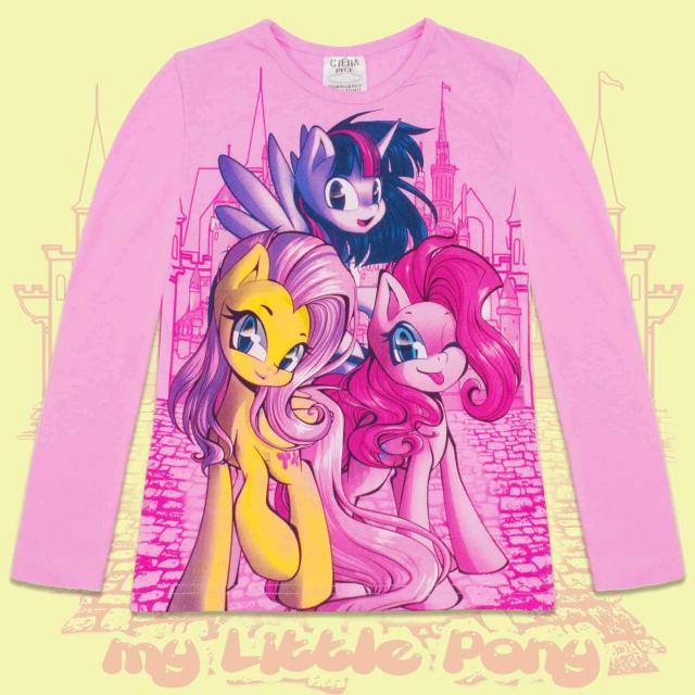 Блуза тънка с дълъг ръкав Малкото Пони в розово