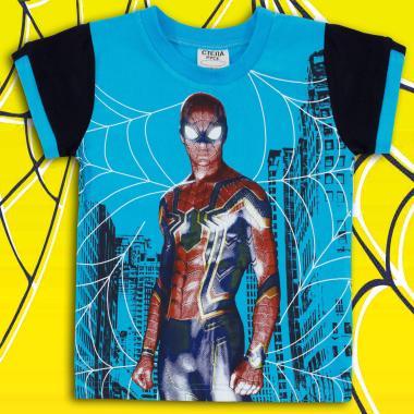 Тениска Спайдърмен наситено синьо