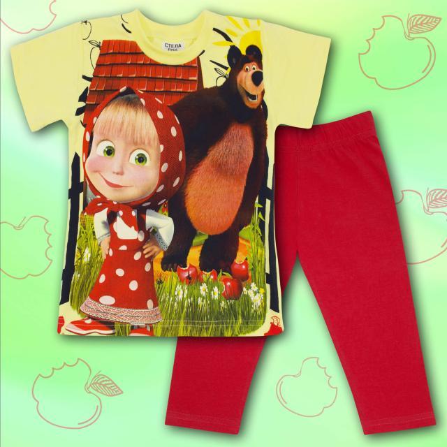 Комплект тениска и клин Маша и Мечока-Masha and The Bear