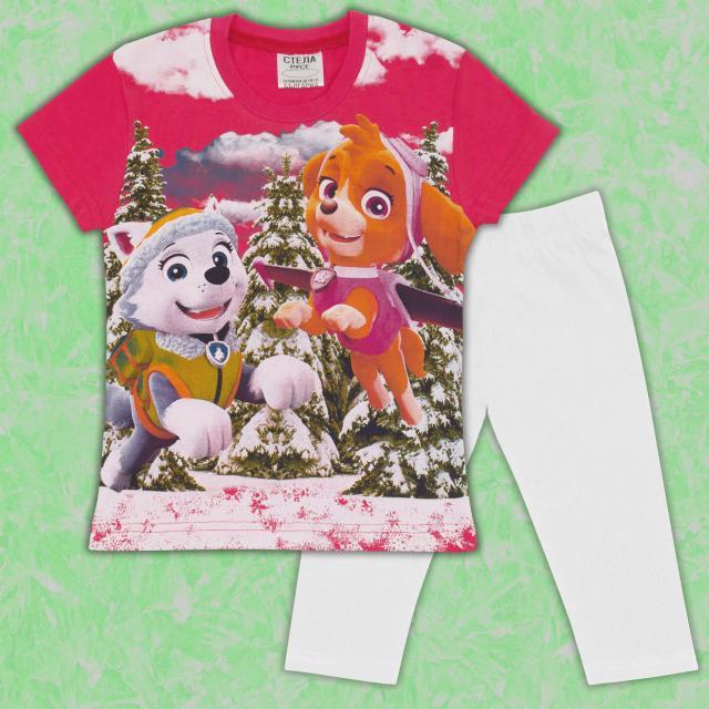 Комплект блузка и клин Скай от Пес Патрул в корал