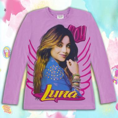 Блуза тънка с дълъг ръкав Сой Луна в лилаво