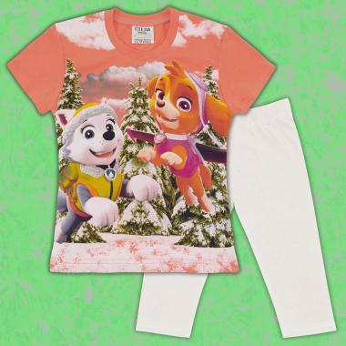 Комплект блузка и клин Скай от Пес Патрул в праскова