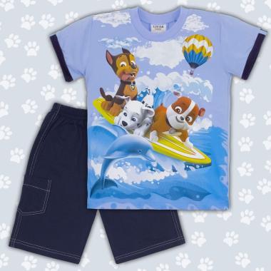 Комплект тениска и бермуди Пес Патрул-в-синьо