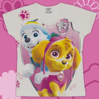 Блуза с къс ръкав Скай Пес Патрул в екрю