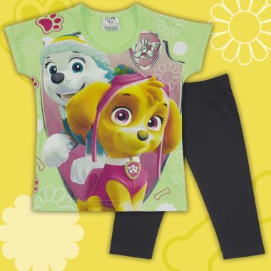 Комплект блузка и клин Скай от Пес Патрул резеда и циклама