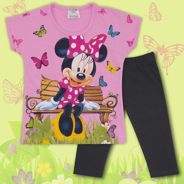 Комплект блузка и клин Мини Маус-в-розово