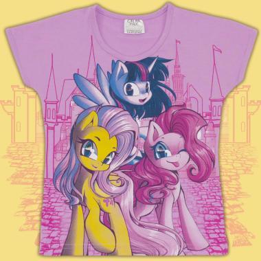 Блуза с къс ръкав Малкото Пони в лилаво