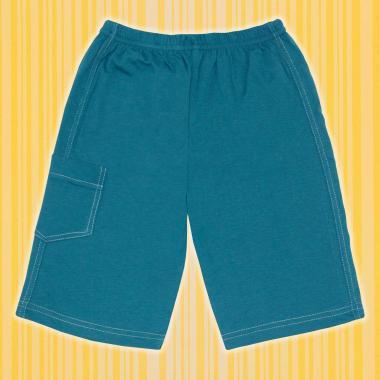 Бермуди 3/4 с джоб в морско синьо