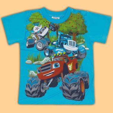 Тениска Пламъчко в наситено синьо