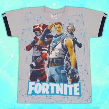 Тениска Fortnite сиво