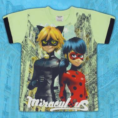 Тениска Калинка и Черният котарак в резеда