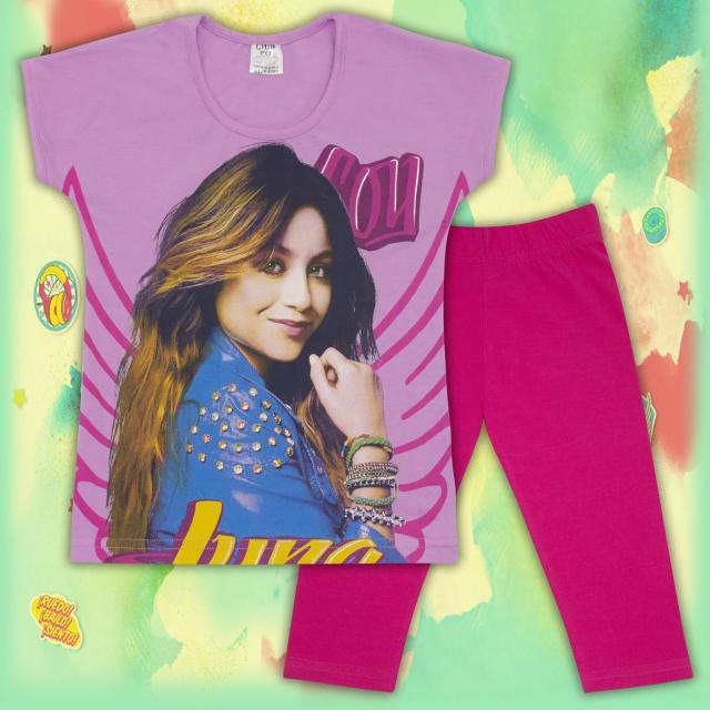 Комплект блузка и клин Сой Луна в лилаво
